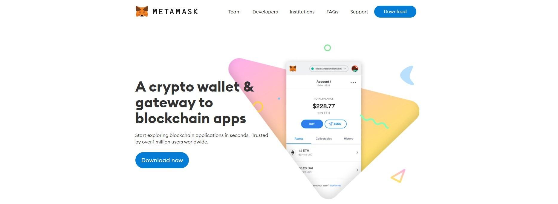 Metamask homepage