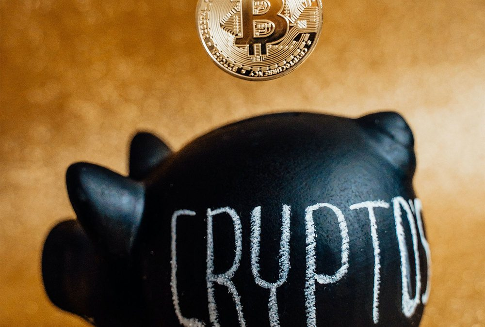 Bitcoin with crypto piggy bank