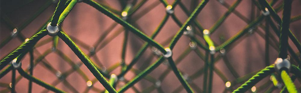 Green rope close up image