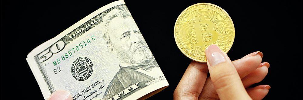 Bitcoin and dollar comparison