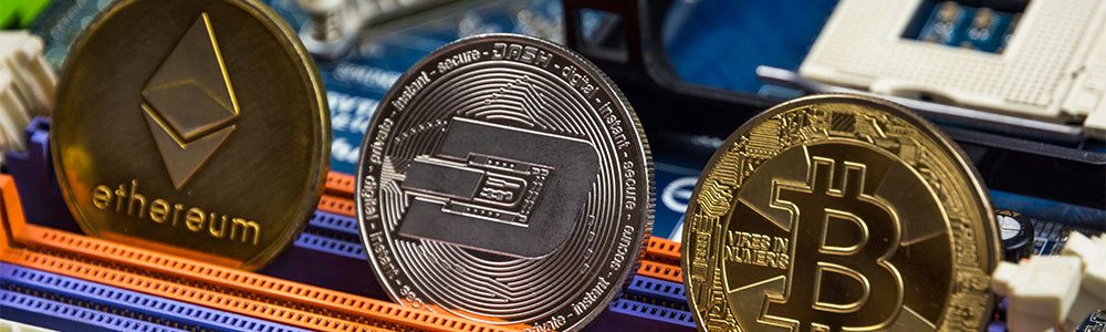 Ethereum, Dash, and Bitcoin together