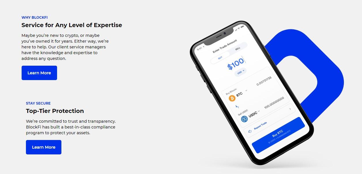 Blockfi exchange features