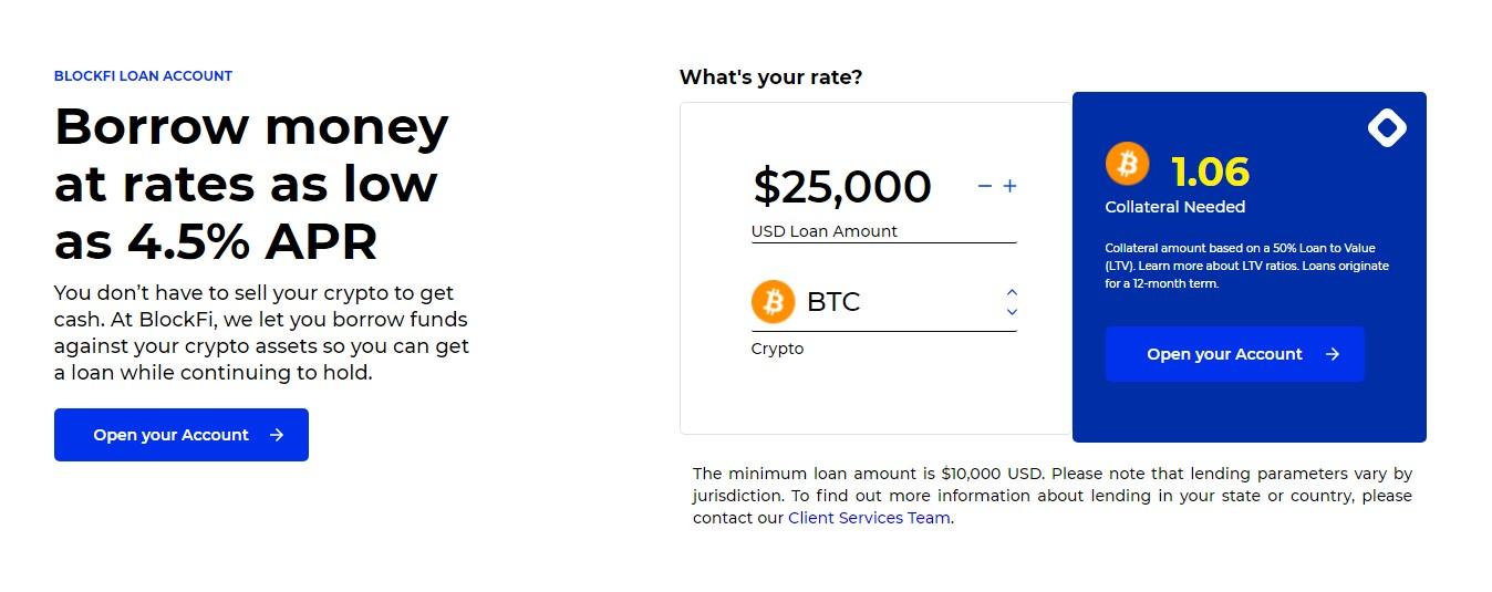 Blockfi loan features