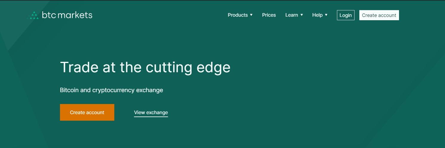 BTC market homepage