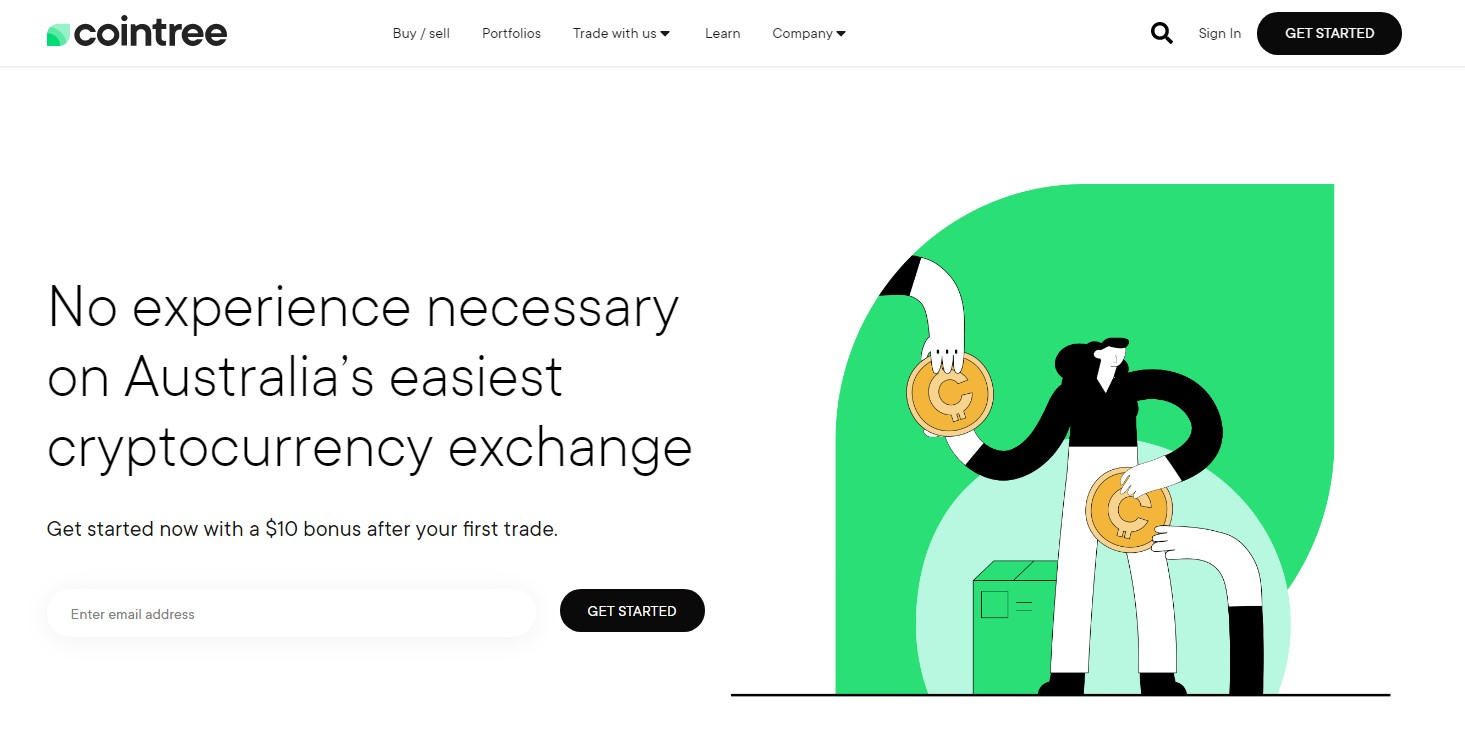 Cointree homepage