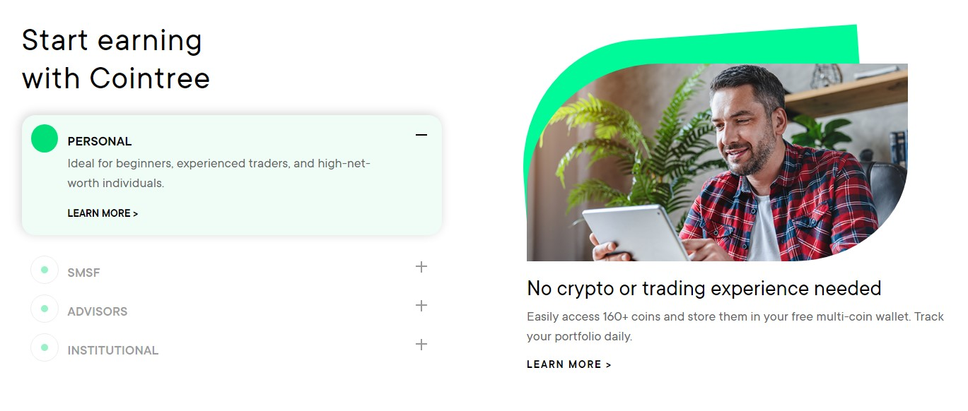 Cointree trading features