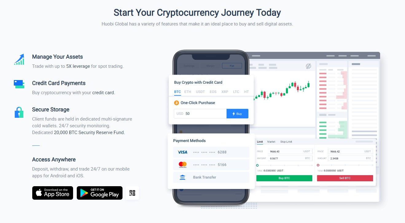 Huobi exchange trading features