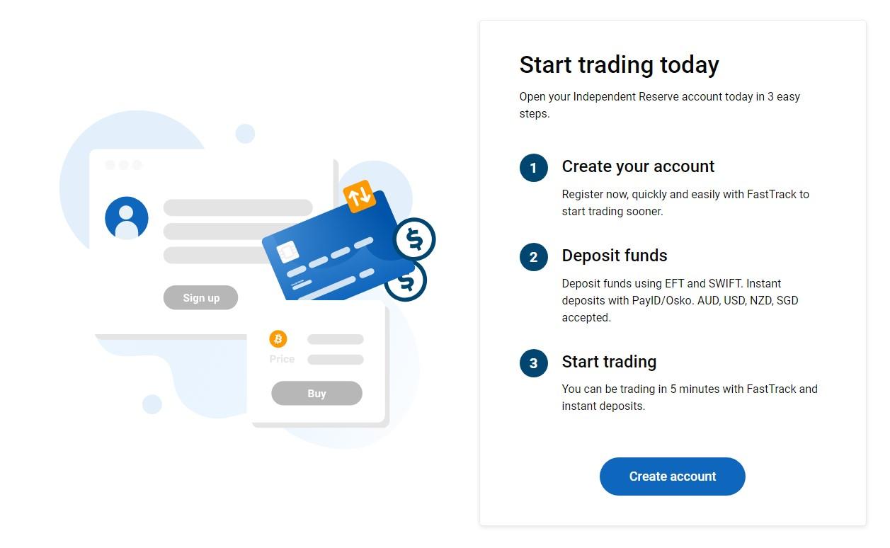 Independent Reserve trading steps