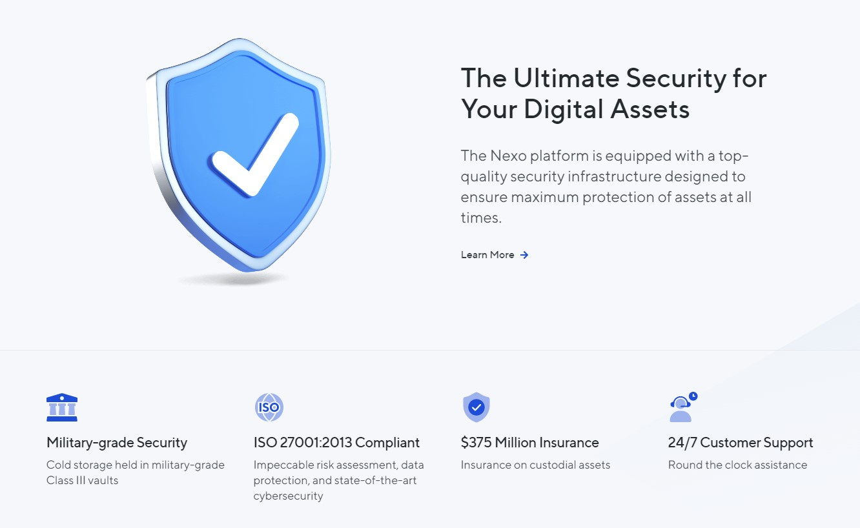 Nexo security features