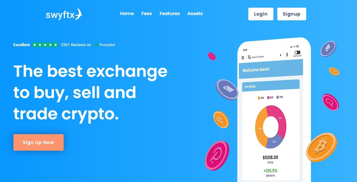 Swyftx homepage