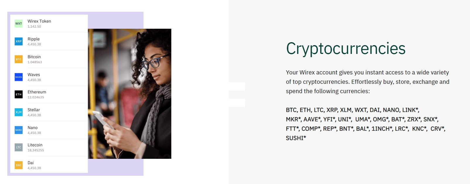 Wirex supported cryptocurrencies