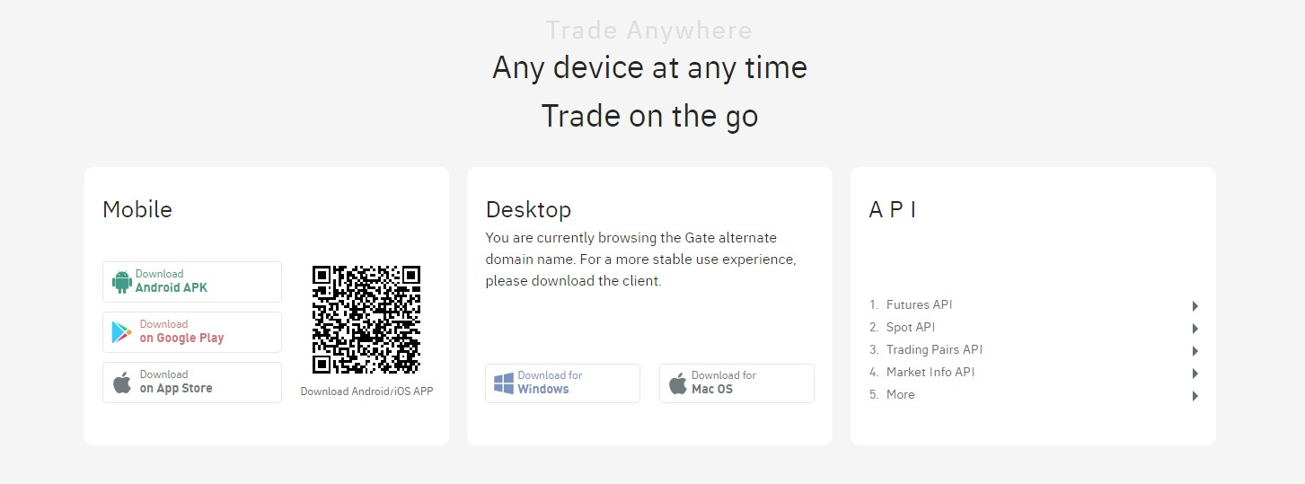 Gate.io products
