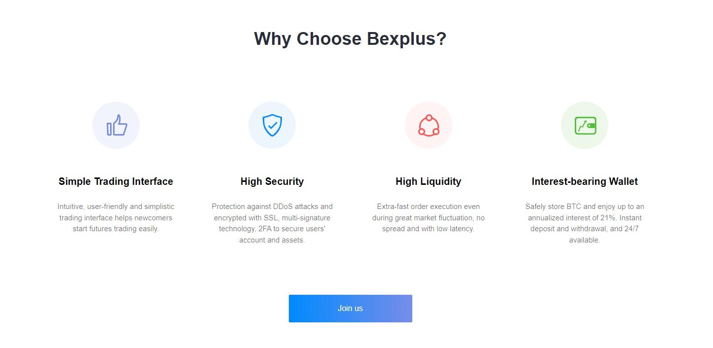Bexplus trading features