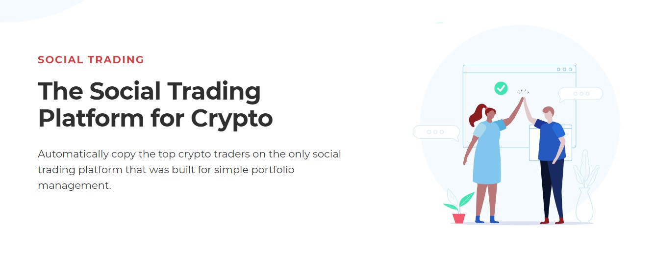 Shrimpy's social trading feature