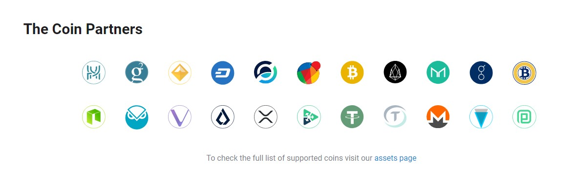 SimpleSwap supported crypto