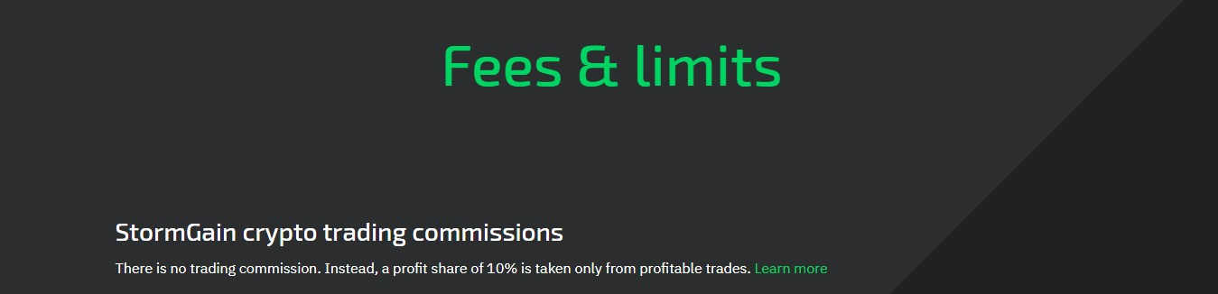 StormTrading Fees and Limits