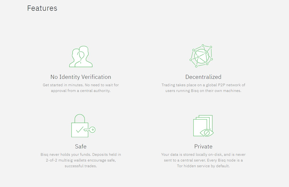 Bisq trading features