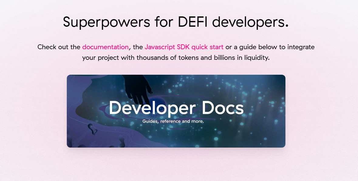 Uniswap fro DeFi developers page